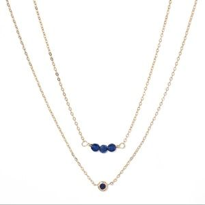 NWT A New Day delicate Sapphire layered necklaces